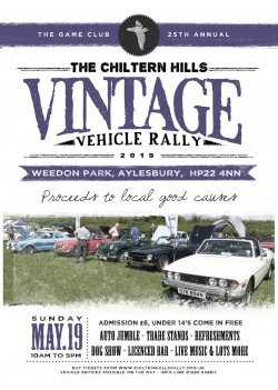 Chiltern Hills Vintage Vehicle Rally -25th Anniversary  Logo