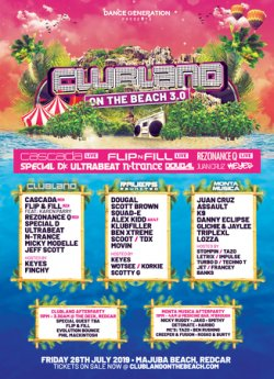 Clubland On The Beach logo