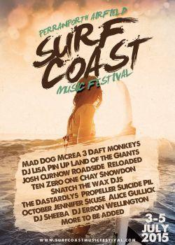 Surf Coast music festival logo