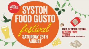 Syston Food Gusto Food & Drink Festival Logo