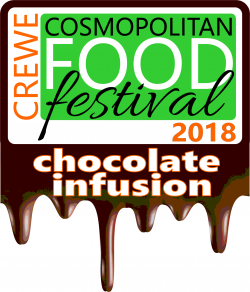 Crewe Cosmopolitan Food Festival 'Chocolate Infusion' Logo
