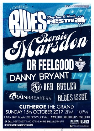 Clitheroe Blues, Rhythm And Rock Festival - Ready To Rock! Logo