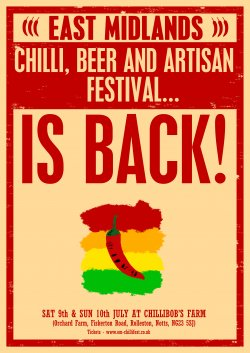 East Midlands Chilli, Beer and Artisan Festival 2016 Logo