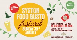 Syston Food Gusto Festival 2020 logo