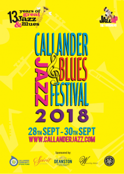 Callander Jazz And Blues Festival logo