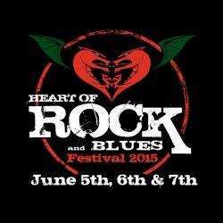 Heart of Rock and blues festival logo