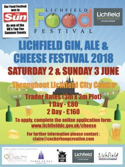 Lichfield Gin, Ale and Cheese Festival 2018 Logo