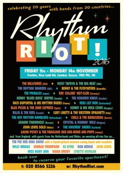 Rhythm Riot Rock n roll weekend logo