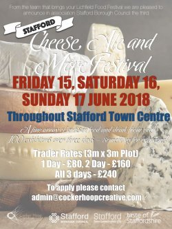 Stafford Cheese, Ale and More Festival 2018 Logo