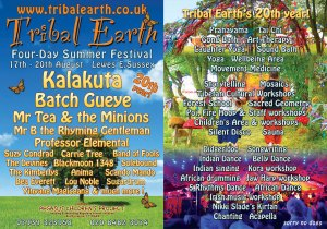 Tribal Earth Summer Festival - 17-20 August, Lewes, Sussex logo
