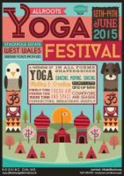 Allroots Yoga Festival West Wales Logo