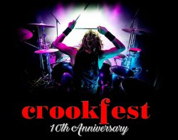 Crookfest 2022 10th Anniversary logo