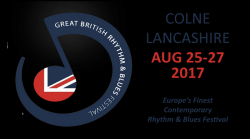 The Great British Rhythm and Blues Festival 2017 logo