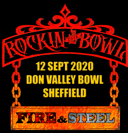 Rockin the Bowl - Fire and Steel 2020 logo